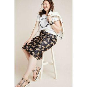New Anthropologie Isla Bias Cheetah Midi Skirt